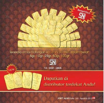 emas batang HWT PT Hartono Wira Tanik