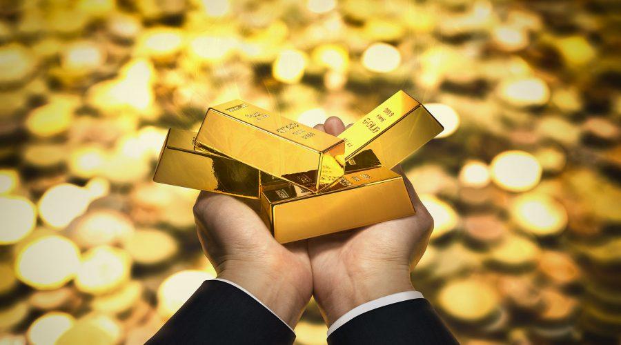 gold bar hand