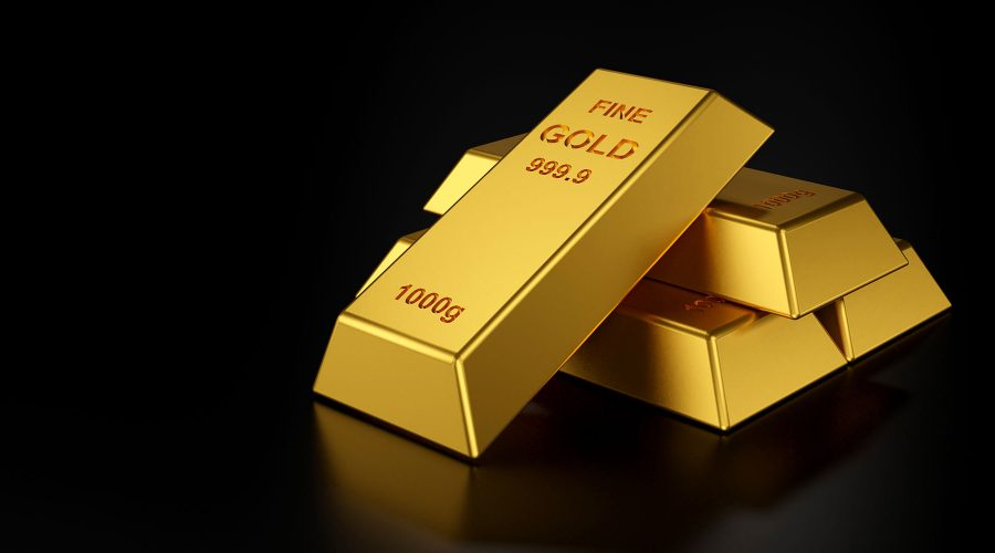 gold bars website banner 3d rendering gold bars